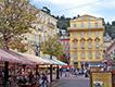Natuurlijk oud Nice met de markt